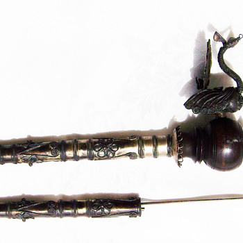 Dragon pipe and dagger (or letter opener)