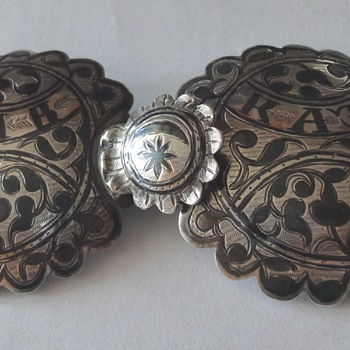Imperial Russian about 1880's Silver and Niello Buckle