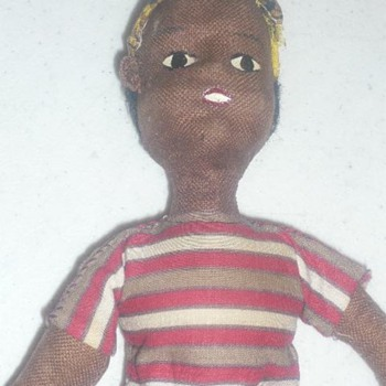 CLOTH BLACK FABRIC DOLL ?