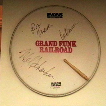 Promo Drumhead Signed by Grand Funk Railroad - Music
