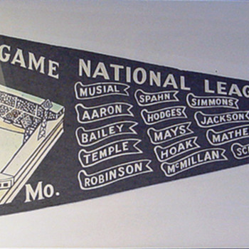 1957 All Star Game National League (St. Louis) - Baseball
