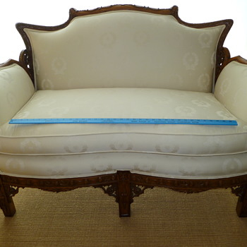 Carved Frame Sofa Made in Italy - Furniture