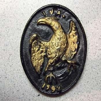 Cast Iron INA 1792 medalion or plate - Signs