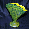 "Welz Iridescent Swirl ""Marbled"" Fan Vase"