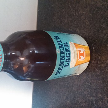 tennents lager bottle  - Breweriana