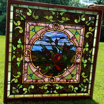 4' Square Tiffany Stained-glass Window - Art Glass