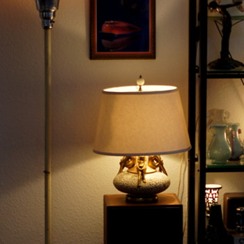 Art Deco / Machine Age floor lamps. An estate purchase in Montana! For Phillip.