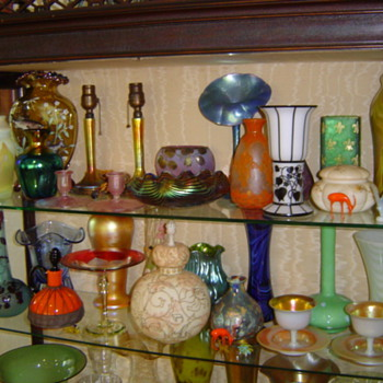 SOME MY GLASS FINDS- HARD TO FIND THIS STUFF ANYMORE... - Art Glass