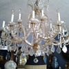 1950's? 12 Arm Maria Theresa Chandelier