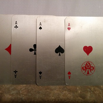 Aluminium metal playing cards