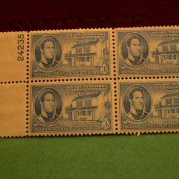1950 Indiana Territory Sesquicentennial 3¢ Stamps  - Stamps