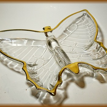 1950's//1960's JEANETTE - Butterfly Glass Dish - Glassware