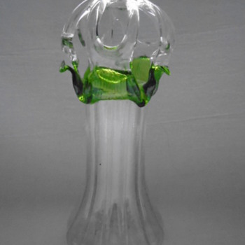 Vase with Applied Glass Frog - Art Glass