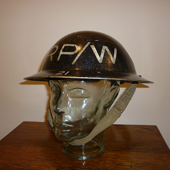 British WWII Repair Party/Water, steel helmet - Military and Wartime