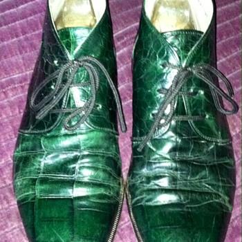 {Vintage} Mens Alligator dress shoes