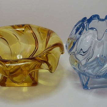Bagley Glass Equinox Vases (Pressed Glass)