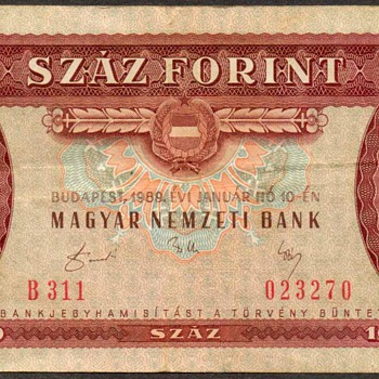 Hungary - 100 Forint Bank Note