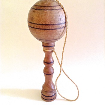 Early French bilboquet (English cup & ball) - Toys