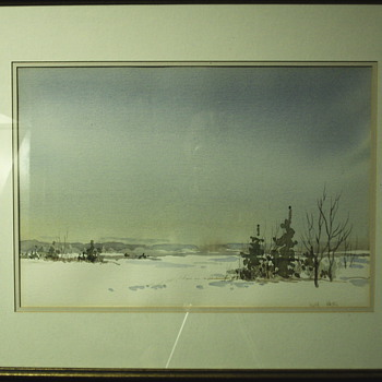 "Water-colour Winter Landscaping""Ruth Hayes""XX century - Visual Art"