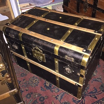 another brass bound civil war era trunk - very cool - Furniture