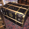 another brass bound civil war era trunk - very cool