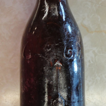 Brown Coke Bottle with One Arrow