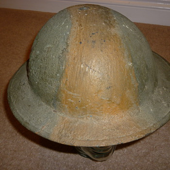 British WW11 cammo helmet