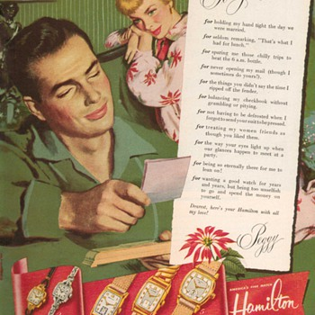 1951 - Hamilton Watches Advertisement