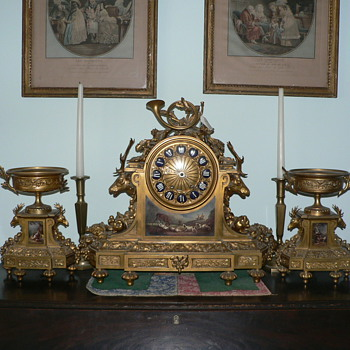 My Tiffany & Co Mantel Clock with Garniture