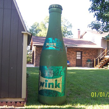 "Canda Dry ""Wink"" 10ft tall fiberglass bottle"