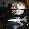 Jewelled Gemstone Globe &amp; Aeroplane Models.