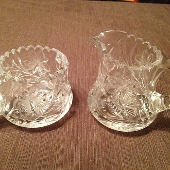 Hand Cut Crystal Sugar Bowl - Glassware