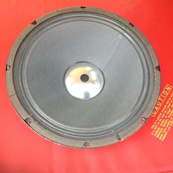 speaker driver 12 inch square back silver dust cap