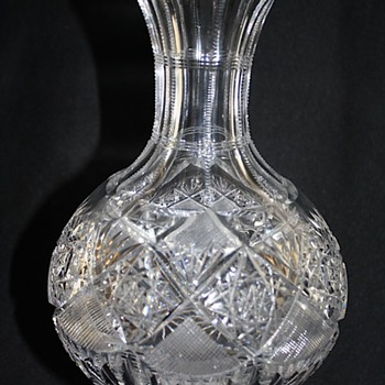"Signed ""Hoare"" American Brilliant Cut Glass Water Carafe 1900"