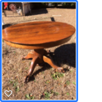 Need help identifying clawfoot table