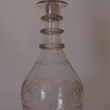 A Cork Glass Co. Irish Decanter