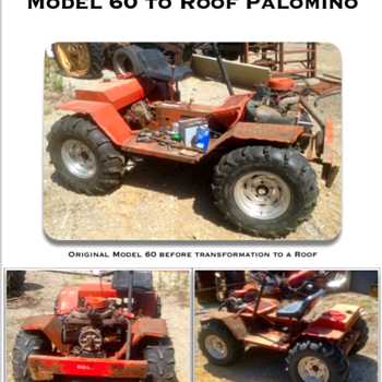 Original Model 60 to a Roof Palomino - Tractors