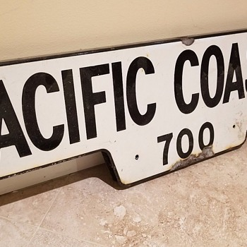 Vintage Pacific Coast HWY - California - street sign