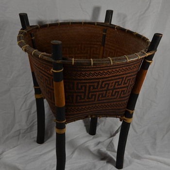 Native Storage Basket Unknown Choctaw or Cherokee One of a Kind - Native American
