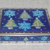 Christmas Cookie Tin - Snowflakes & Trees