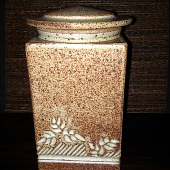 Cool Stoneware Canister - Art Pottery