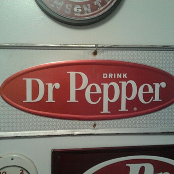 1960's Dr Pepper Sign - Advertising