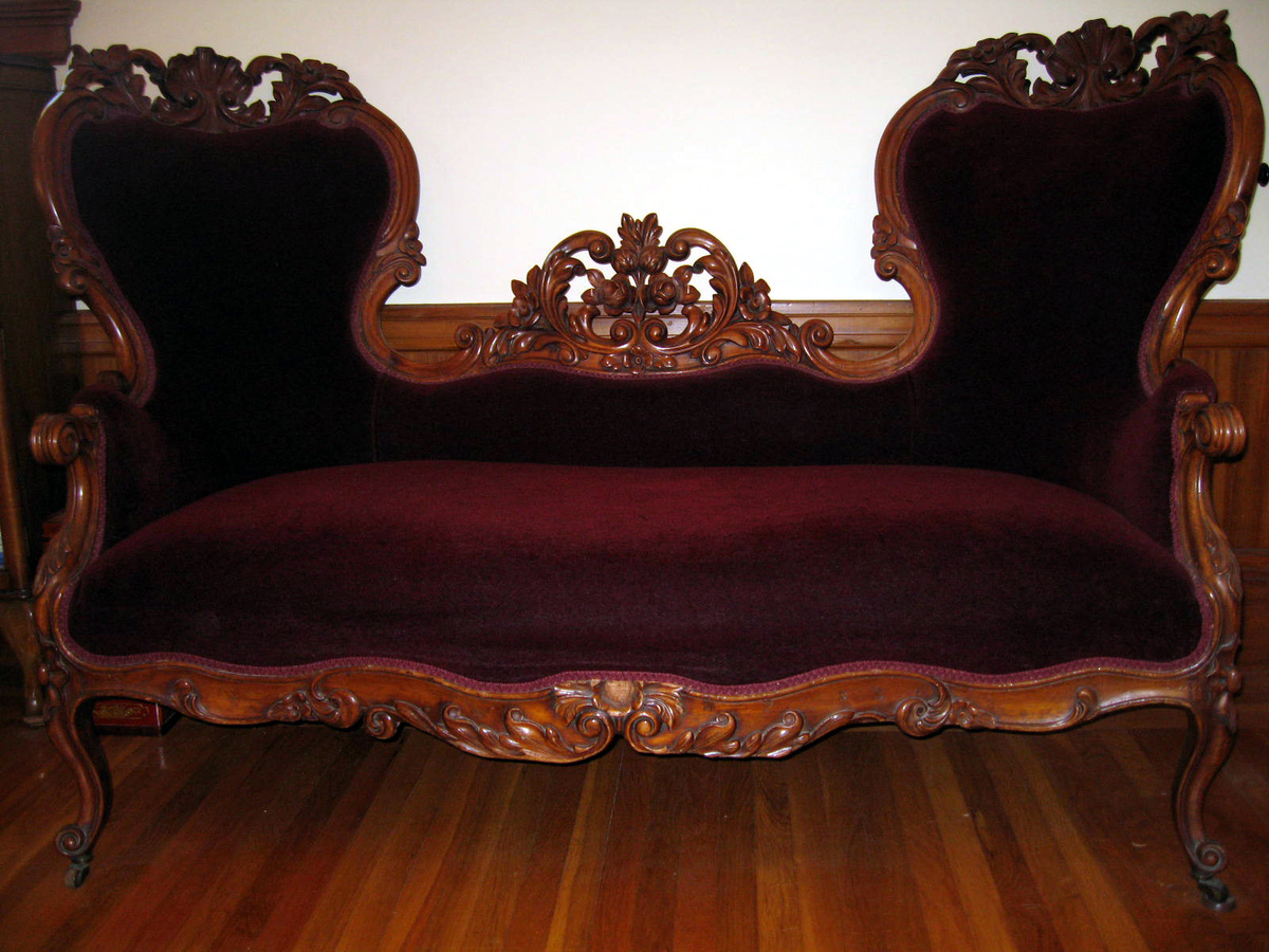 Carved Walnut Victorian Loveseat Collectors Weekly