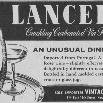 1955 Lancers Wine Advertisement - Advertising
