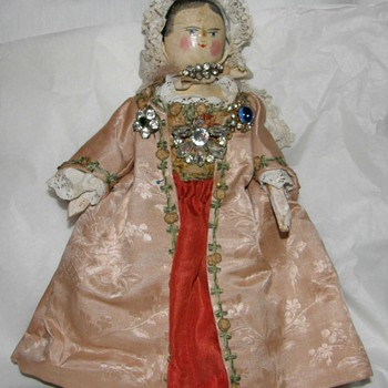 seldom  and spectacular antique wooden doll - Dolls