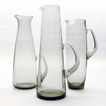 HAVFRUE, MARTINI &amp; ROSKILDE jugs, Per Ltken (Holmegaard, 1950s)