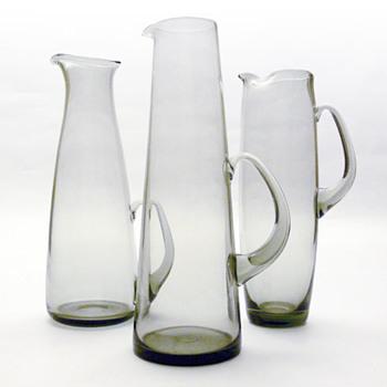 HAVFRUE, MARTINI & ROSKILDE jugs, Per Lütken (Holmegaard, 1950s) - Art Glass