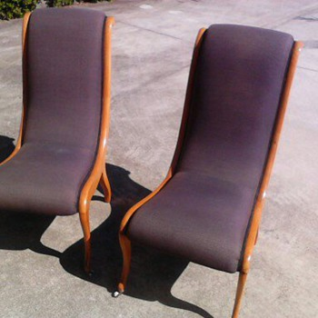 Scandinavian swedish 1920&#039;s salon chairs - Furniture