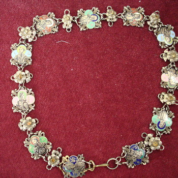 Antique Enamel Religious Necklace