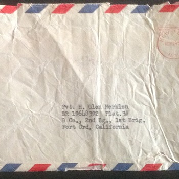 Envelope from the New York Yankees call up letter - Baseball
